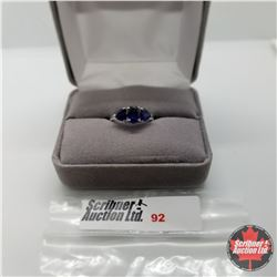 Ring - Size 5: Blue Sapphire (Lab) - Sterling Silver