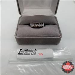 Ring - Size 6: Simulated Diamond Band - Sterling Silver