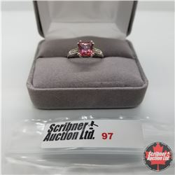 Ring - Size 6: Pink Topaz - Sterling Silver