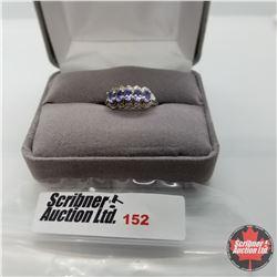 Ring - Size 6: Tanzanite Platinum Bond Overlay