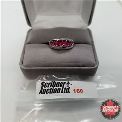 Ring - Size 6: Simulated Ruby Stainless Steel