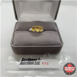 Ring - Size 6: Citrine Stainless Steel