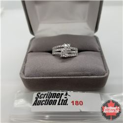 Ring - Size 6: Simulated Diamond - Sterling Silver - Stainless
