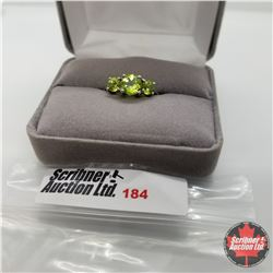 Ring - Size 6: Peridot - Sterling Silver
