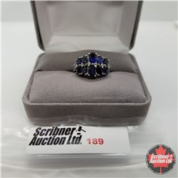 Ring - Size 6: Blue Sapphire (Lab) - Sterling Silver