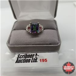 Ring - Size 8: Northern Lights Topaz - Sterling Silver