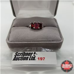Ring - Size 6: Ruby - Sterling Silver