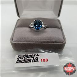 Ring - Size 6: London Blue Topaz - Sterling Silver