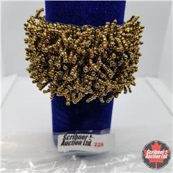 Bracelet - Stretch - Gold Beaded - Carpet Bracelet