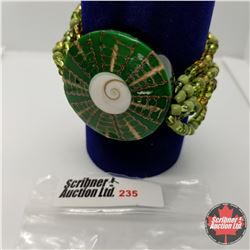 Bracelet - Stretch - Shell & Bead - Shiva Eye