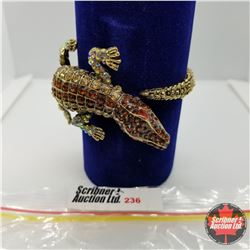 Bangle - Crocodile (opens) Austrian Crystal