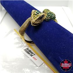 Bangle - Green Snake (opens) Austrian Crystal