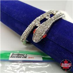 Bangle - Silver Snake (opens) Austrian Crystal