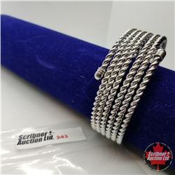 """Bangle - Silver Wire 2 3/4"""" Austrian Crystal"""