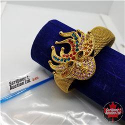 Bangle - Mardi Gras Masque Austrian Crystal