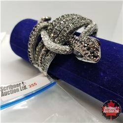 Bangle - Black Snake (opens) Austrian Crystal