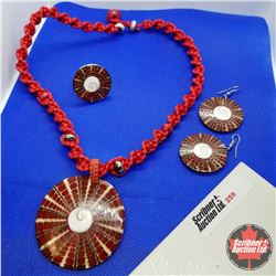 "Set - Shiva Eye Necklace (20"") Shephard Hook Earrings Adjustable Ring Austrian Crystal"
