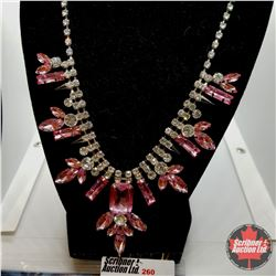 """Necklace - Pink & White (20"""")"""