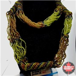"""Necklace - Green/Yellow Endless (38"""")"""