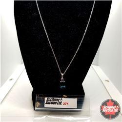 """Necklace - London Blue Topaz (20"""") - Sterling Silver"""