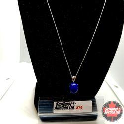 "Necklace - Lapis Lazulite (20"") Stainless"