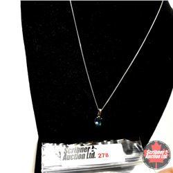 """Necklace - London Blue Topaz - Sterling Silver (18"""")"""