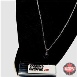 "Necklace - Black Diopside - Sterling Silver  (20"")"