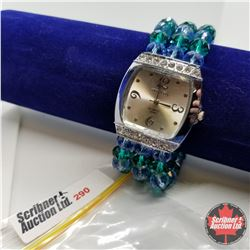 Watch - Green & Blue Austrian Crystal