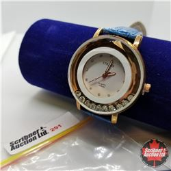 Watch - Blue Strap White Crystal Face