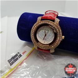 Watch - Red Strap Austrian Crystal
