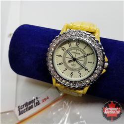 Watch - Yellow Band Austrian Crystal