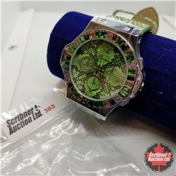 Watch - Genoa Green Snake Skin