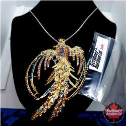 "Pin/Pendant - Phoenix (18"") Austrian Crystals"