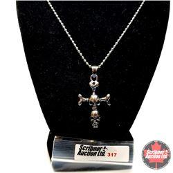 """Pendant - Skull Cross (23"""") - Stainless"""