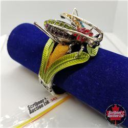 Bangle - Crystal Grasshopper (opens) Austrian Crystal