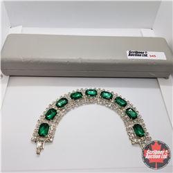 "Bracelet- Simulated Emerald (8"")"