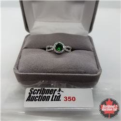 Ring - Size 7: Simulated Emerald - Sterling Silver