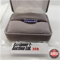 Ring - Size 7: Tanzanite 3 stone Oval - Platinum Bond