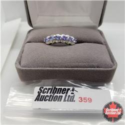Ring - Size 7: Tanzanite - Sterling Silver - Platinum Bond