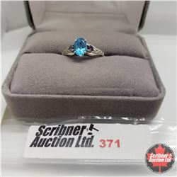 Ring - Size 7: Electric Blue Topaz (Rare!) Sterling Silver