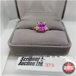 Ring - Size 7: Pink Sapphire (Lab) - Sterling Silver