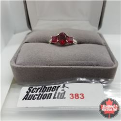 Ring - Size 7:Ruby (Lab) - Sterling Silver