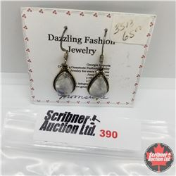 Earrings - Moonstone - Silver
