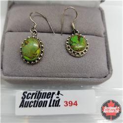 Earrings - Green Turquoise - Sterling Silver