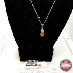 "Necklace: Tiger Eye (18"") Stainless"