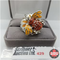 Ring - Size 10: Orange Bee Stainless