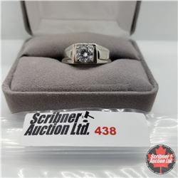 Ring - Size 10: Mens Simulated Diamond Stainless