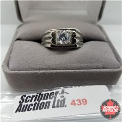 Ring - Size 12: Mens Simulated Diamond Stainless