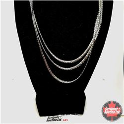 "Chain: Triple Strand Spiga (18"") Stainless"