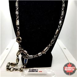 "Chain: Necklace or Bracelet (2 X 8"" 1 X 16"") Can be joined or worn individually - Stainless"